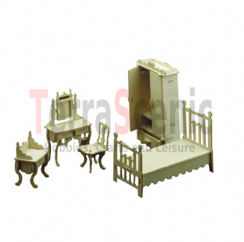 Dolls House Furniture Kit 1:12 Scale Master Bedroom